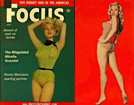Бетти Бросмер - идеал женской фигуры 50-х годов (52 фото) (эротика)