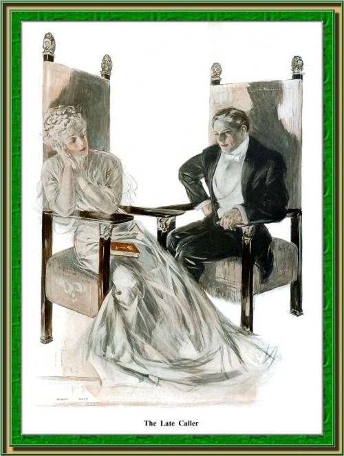 Женский образ на старой открытке 14 (106 открыток)