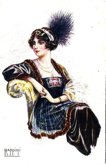 Женский образ на старой открытке 14 (106 фото)