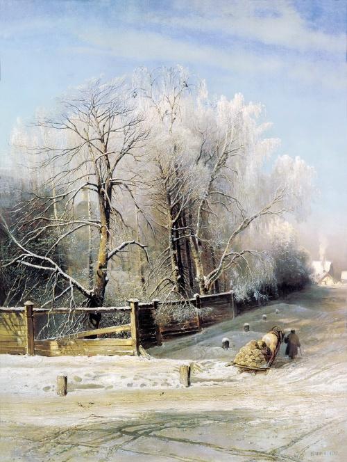 Зима в картинах русских художников (98 работ)