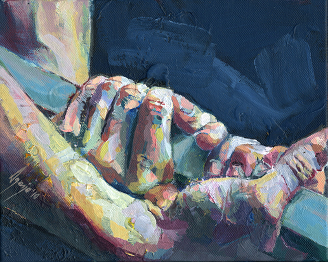 Artist david agenjo 46 for Watercolor paintings of hands