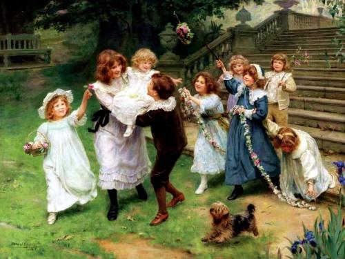Детишки с собачками (173 фото)