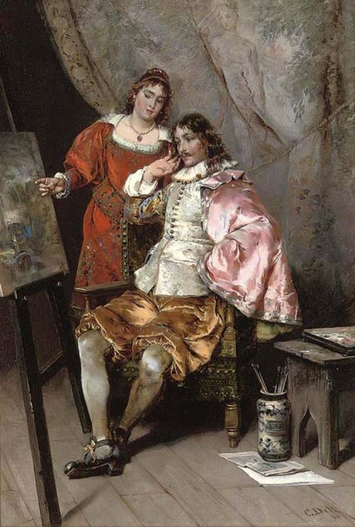 Итальянский художник Cesare Augusto Detti (1847-1914) (76 работ)