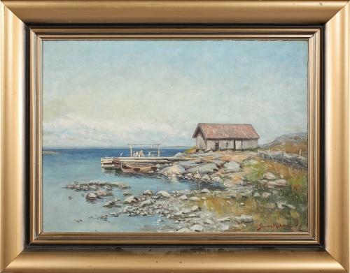 Шведский художник Johan Severin Nilson (1846-1918) (43 работ)