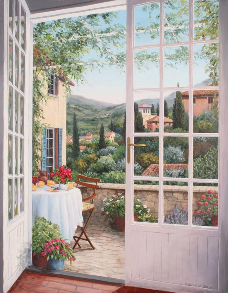 Тоскана.открытый балкон арт.в162 70х90 см гобелен без рамы -.