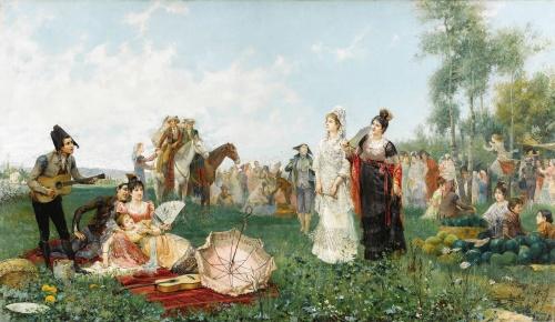 Испанский художник Juan Gimenez Y Martin (1855-1901) (13 фото)