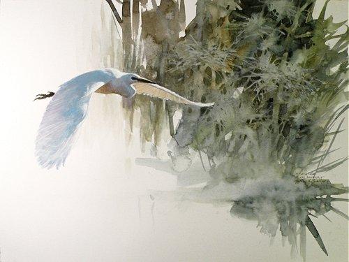 漂亮的野生动物水彩画作