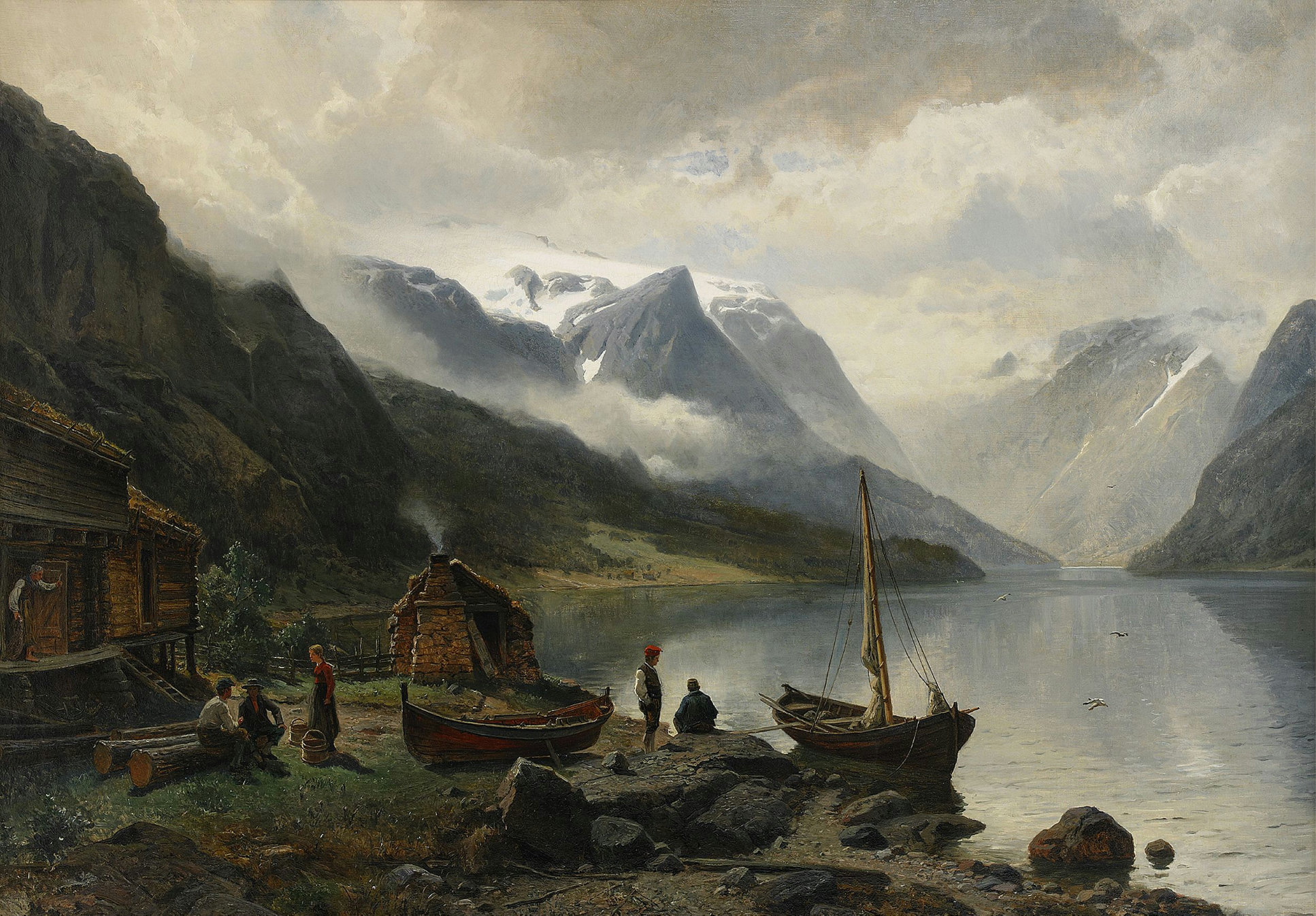 1934x1346 Художник Johan Edvard Bergh (Sweden, 1828-1880) (18 фото)