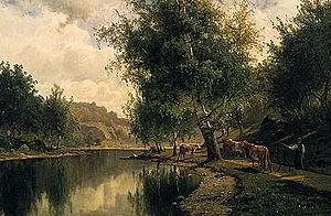 Художник Johan Edvard Bergh (Sweden, 1828-1880) (18 фото)