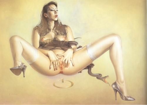 Erotic Art by Hajime Sorayama ( +18 ) (1211 работ) (эротика).