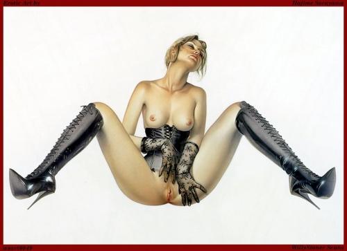 Fishnet erotic art