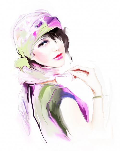 Shutterstock - Illustrated Fashion Woman 2 (26 фото)