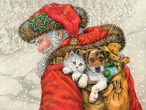 Новогодний и рождественский винтаж – Вернут нас в прошлое (86 фото)