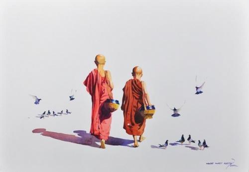 Художник Myoe Win Aung (45 фото)