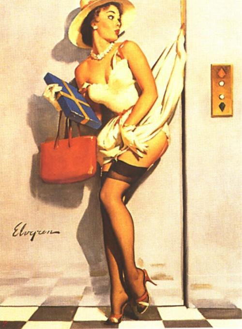 Девушки Gil Elvgren (490 работ)