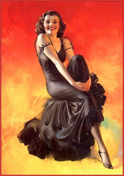Пинап от художника Rolf Armstrong (74 работ)