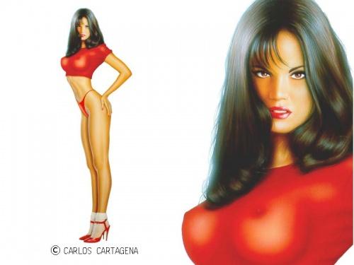 Девушки Carlos Cartagena (107 работ)
