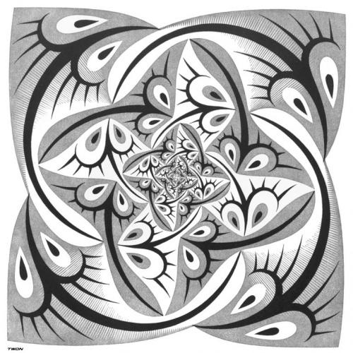 Фантастический арт от Maurits Cornelis Escher (185 работ)