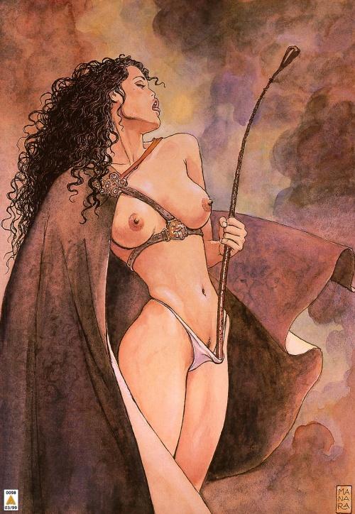 Пинап от художника Manara (7 работ)
