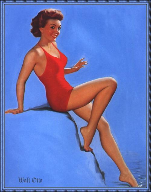 Пинап от художника Walt Otto (3 работ)