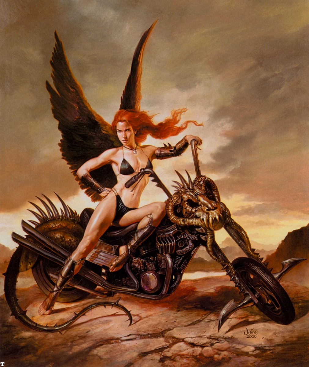 Nude women on motorcycle fantasy art hentia images