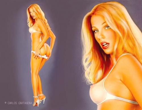 Пинап от художника Carlos Cartagena (56 работ)