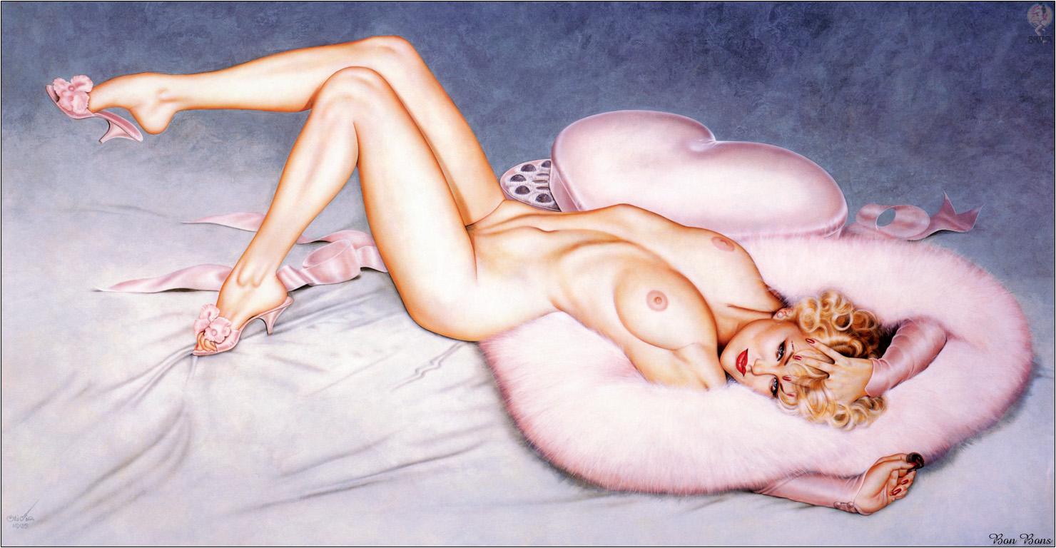 Художники рисуют голых девушек 26 фотография
