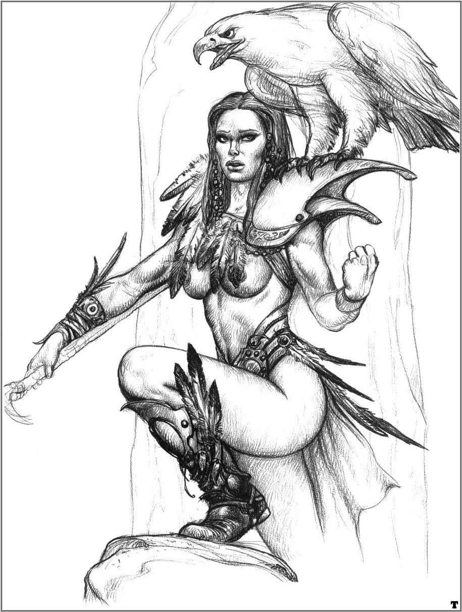 Рисунки карандашом фэнтези девушки 4 фотография