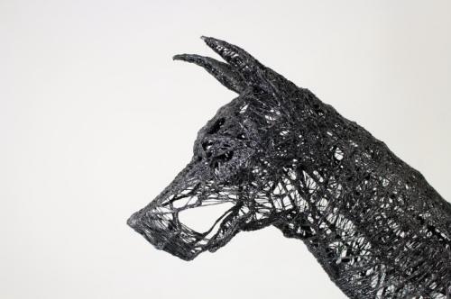 Проволочные скульптуры Yong Won Song (10 фото)
