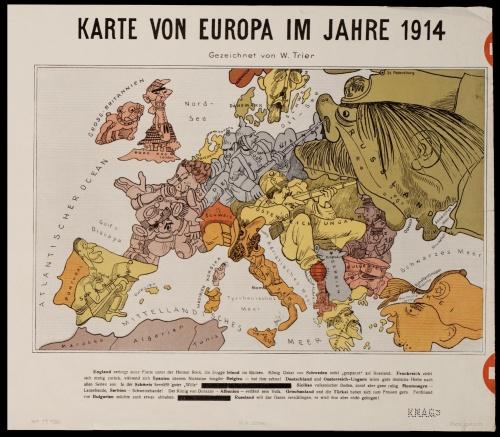 Карикатурные карты Первой Мировой