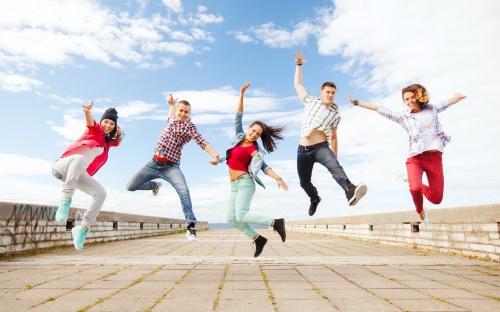Танцы тинейджеров (5 фото)
