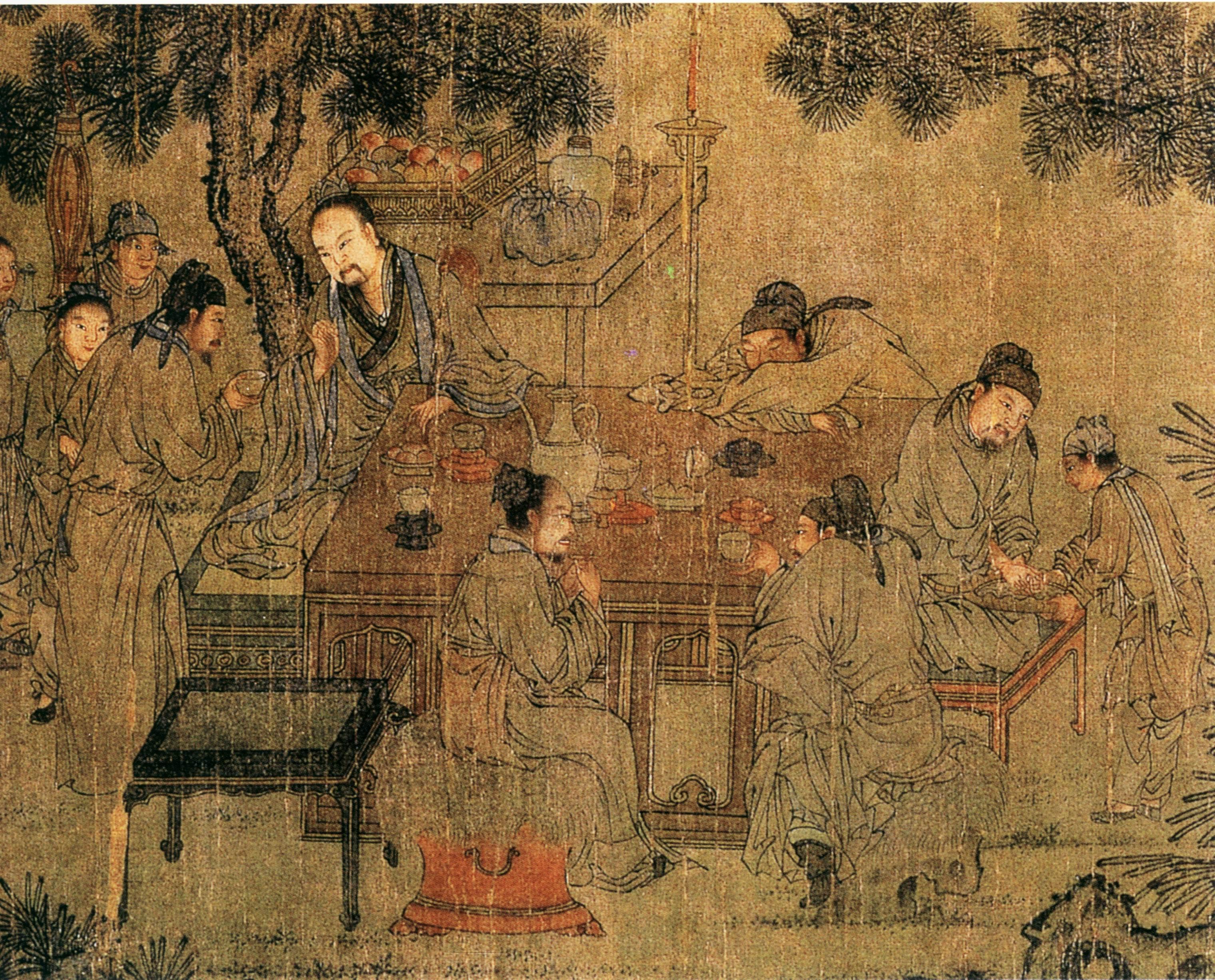 Древнего шпаргалка живопись китая