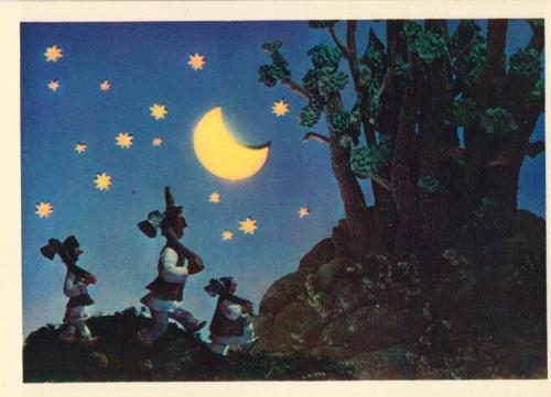 Набор открыток - Румынская сказка - Как солнце вернули  (28 фото)