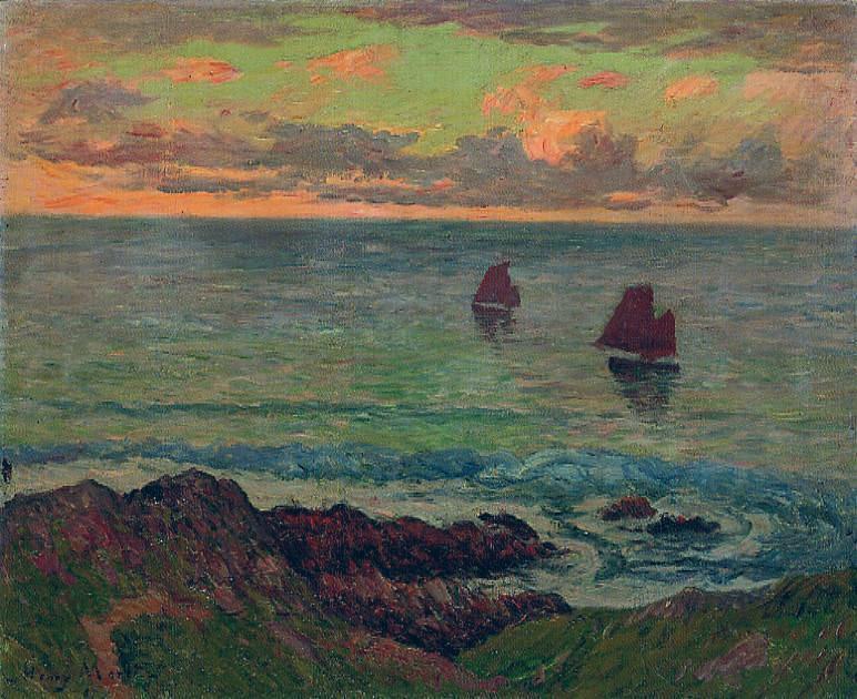 Artworks by Henry Moret (190 работ) » Картины, художники, фотографы на  Nevsepic