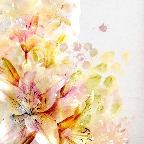 Акварельные Цветы (5 фото)