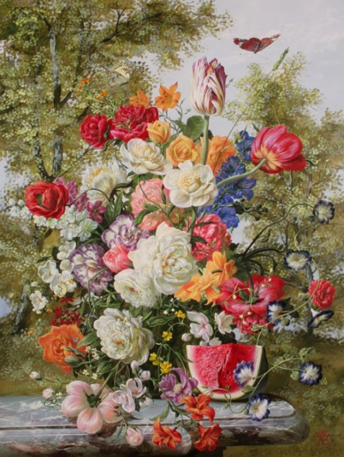 Цветы от Дьюла Шишка (Gyula Siska) (26 работ)