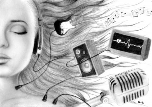 Рисунки карандашом. Q-Le (20 работ)