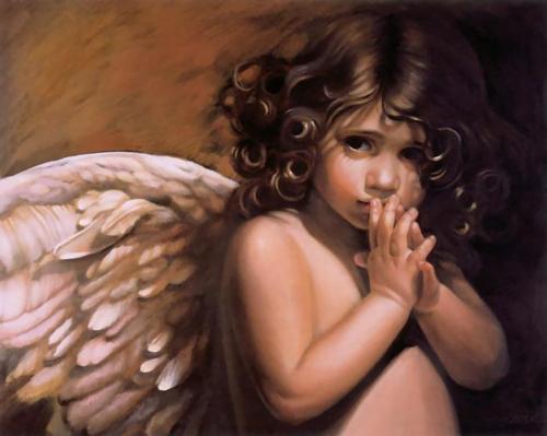 Графический рисунок - Детские ангельские лики от Нэнси А. Ноёль (12 работ)