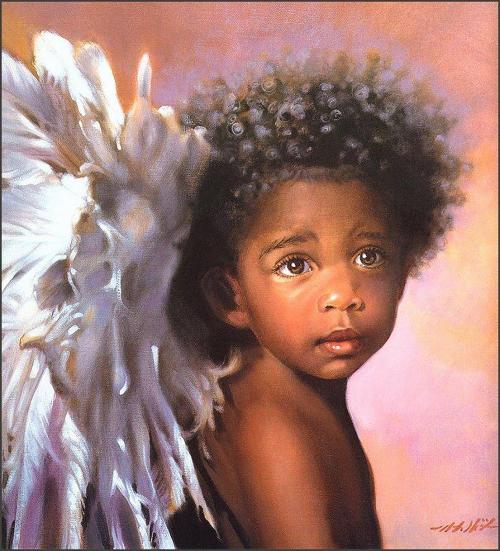 Графический рисунок - Детские ангельские лики от Нэнси А. Ноёль (12 фото)