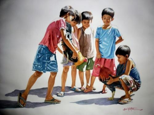 Филиппинский художник-реалист. Jose Vistan (20 работ)