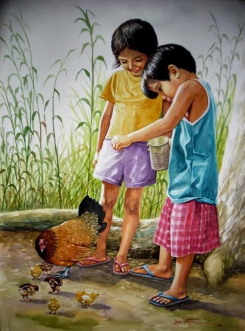 Филиппинский художник-реалист. Jose Vistan (20 фото)