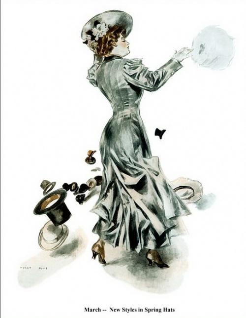 Image of woman on old postcard 15 | Женский образ на старой открытке 15 (150 работ)