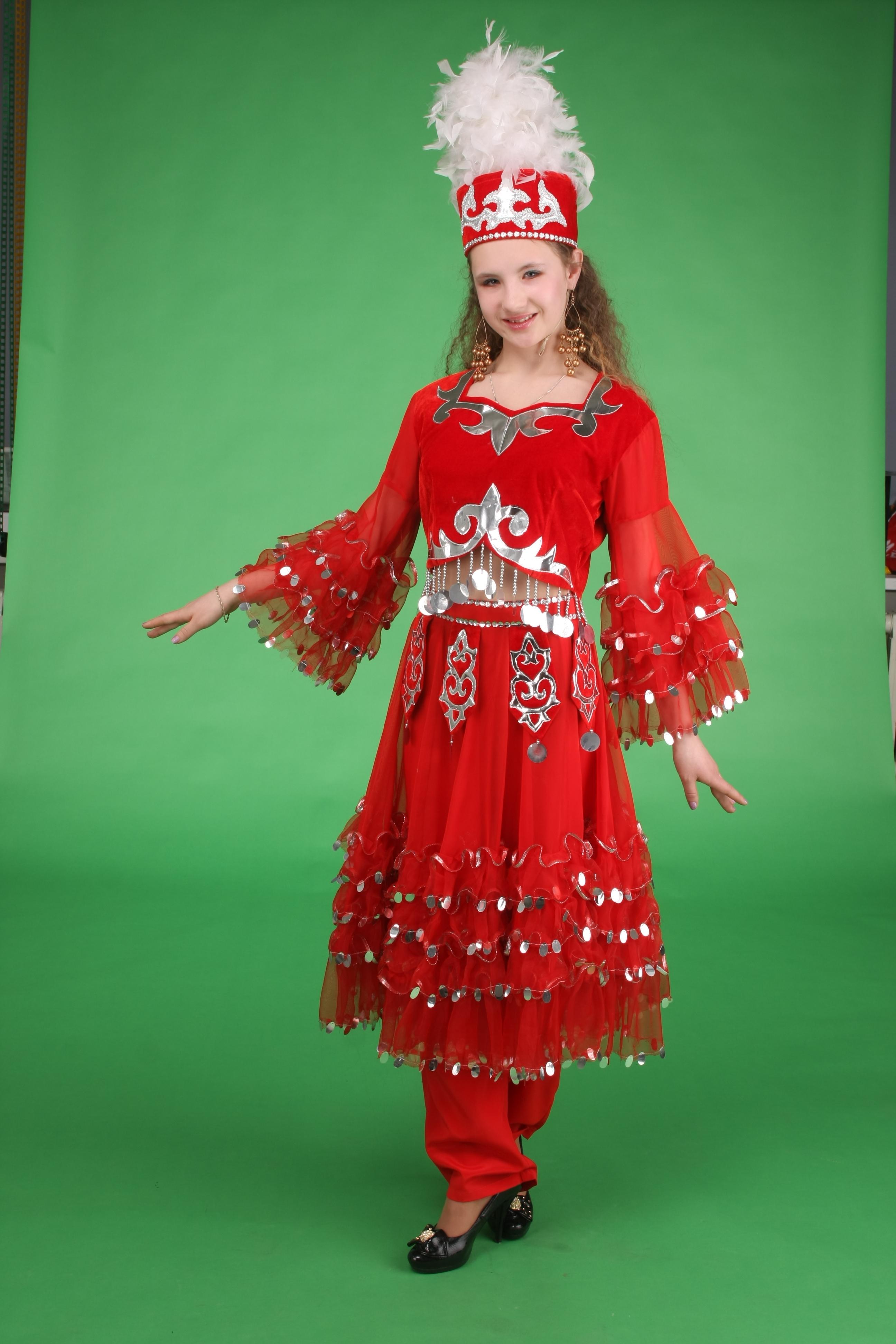 Казахский национальный костюм для девочки своими руками