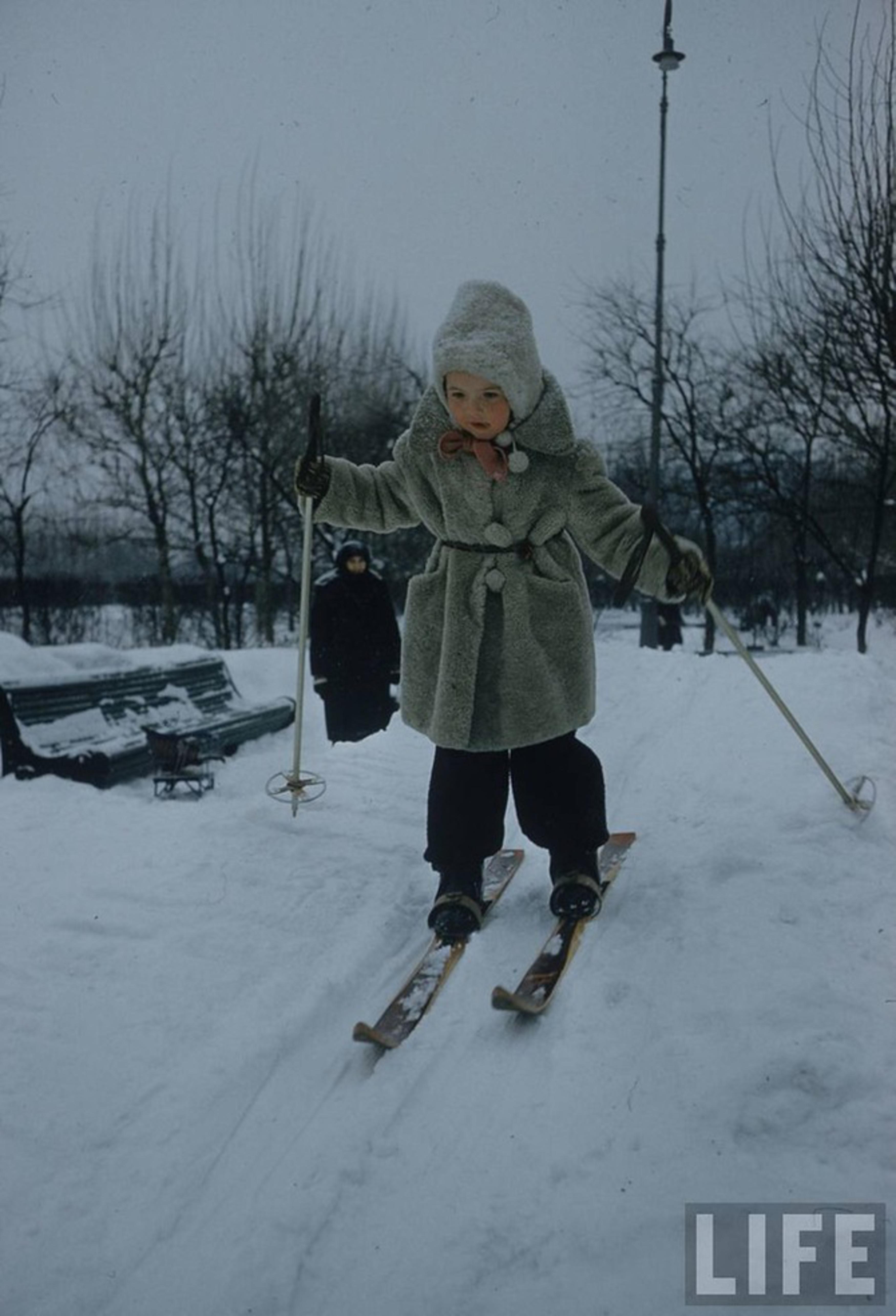 Фото советских детей зима