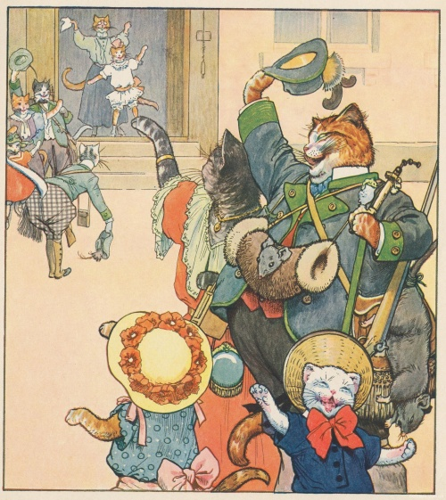 Немецкий художник Carl Robert Arthur Thiele часть 2 - Коты, кошки, собаки и другие животные (195 фото)