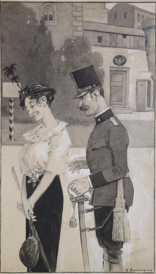 Немецкий художник Emil Reinicke (1859 – 1942) (67 фото)