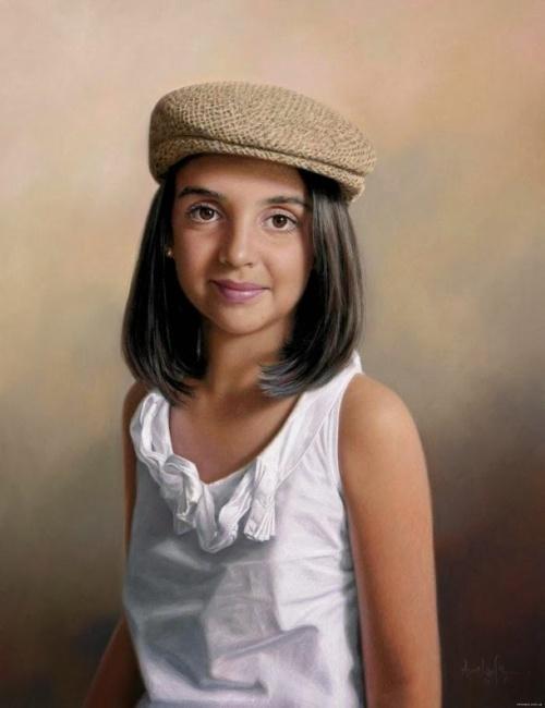 Реалистичные портреты. Aurelio Rodriguez Lopez (19 фото)