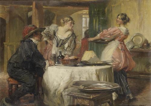 Английский художник и иллюстратор Edgar Bundy (1862-1922) (57 работ)