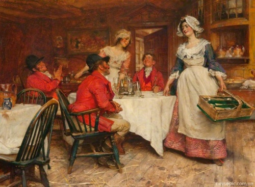 Английский художник и иллюстратор Edgar Bundy (1862-1922) (57 фото)