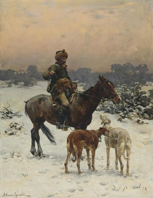 Польский художник Alfred von Wierusz-Kowalski (1849-1915) (работ)